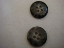 1 dozen of black with gray marble 4 hole acrylic button 15 mm