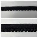 1 lot of 10 yards of black  elastic picot trim. 3/8 W great for lingerie