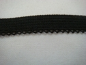 1 lot of 10 yards of black elastic picot trim. 3/8 W