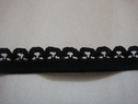 1 lot of 10 yards of black elastic picot trim. 7/16 w