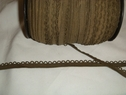 1 lot of 10 yards of dark olive elastic picot trim. 7/16 w