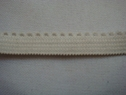 1 lot of 10 yards off white elastic picot trim. 3/8 W