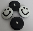 1 lot of 6 happy face self shank shirt button. 25 mm
