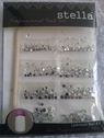 1 pack of STELLA clear rhinestones professional nail kit