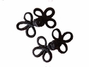 1 pair Black Chinese knot Frog fastener button closures