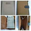 1 personal organizer in color tan with different compartments 8L x 5W.