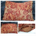 1 piece burgundy olive golden yellow dusty orange embroidered satin cotton pillow case