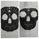 black skull tulle applique c21 great for Halloween custom
