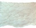 Double white scalloped floral lace trim 4 1/2