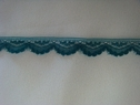 1 Y narrow scalloped steel blue lace trim 1/2 W