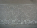 Pure White Double Scalloped Lace Trim 6 w L-8-Box