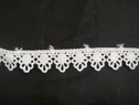 1 Y Venice/Venise White Floral Design Edge Lace Trim 11/16