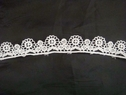 White Venice/Venise Floral Design Edge Lace Trim 3/4