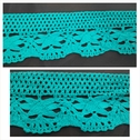 1 yard aqua green crochet clunny trim 2 1/4 inch wide.