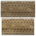 1 yard beige crochet clunny scalloped embroidered trim 1 1/2 inch wide.