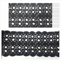 1 yard black dotted design double scalloped venice trim 5 3/4 inch wide.