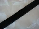 1 yard black polyester velvet ribbon trim 3/8 wide