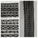 1 yard black scalloped lace trim 2 inches wide. L5-7