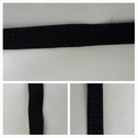 Black stitched emboss bra strap trim 3/8 inches wide.