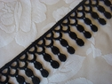 Black Venice Venise lace fringe trim 1 wide