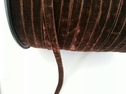 1 yard Brown velvet ribbon trim