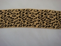 1 yard Camel and Black animal print Stretchy ribbon  trim, 1 3/4w,  Shelf 300