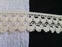 1 yard ivory crochet clunny trim. 2 inches wide.