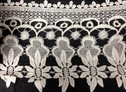 Ivory Floral Design Venice Lace 8 inch wide
