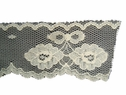 1 yard Ivory scalloped floral  Lace Trim 1 1/4 In L6-3