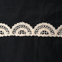 Natural Color Cotton Crochet Cluny Scalloped Unique Trim 1 1/4 inch Wide