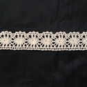 Natural Color Cotton Crochet Cluny Scalloped Unique Trim 1 1/8 inch Wide