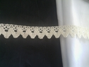 Natural cotton rick rack crochet trim lace 7/8inch