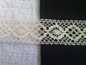 1 yard natural crochet clunny trim. 1 1/2 inches wide.