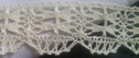 Natural crochet clunny trim1 inch