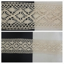 Natural diamond shape design crochet clunny trim 2 7/16 inches wide.