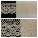 1 yard natural double scalloped embroidered crochet clunny trim 3 1/2 inches wide.