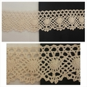1 yard natural embroidered crochet clunny trim 1 7/8 inches wide.