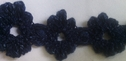 1 yard navy blue crochet clunny trim1 inch