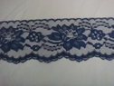 1 Yard Navy Blue Double Scalloped Lace Trim. 3 w. L-7-3
