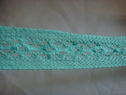 Aqua green crochet trim 1 1/4 w 500s