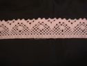 Baby pink scalloped crochet trim. 1 3/8 W 500u