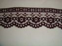 1 yard of Beautiful burgundy scalloped lace trim.1 3/4 W L6-2