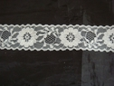 Beautiful white / Black shiny floral scalloped lace trim 1 1/2 W L6-6