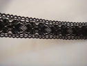 Black beautiful scalloped crochet trim. 500M 1 1/4 W