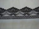 1 yard of black beautiful scalloped lace trim. 1 1/2 W L5-2