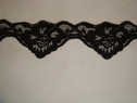 Black double scalloped floral lace trim.2 1/4 W L 6-6