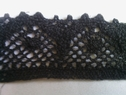 1 yard of black embroidered crochet clunny trim 1 1/2 inches