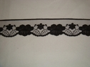 1 yard of black floral scalloped lace trim. 1 1/2 W L5-5