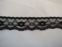1 yard of black scalloped floral lace trim, 7/8 L1-1