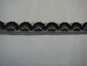 Black narrow edge scalloped lace trim. 5/8 W L3-1
